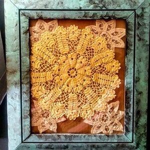 Distressed Vert Patine 8x10 photo frame, wood